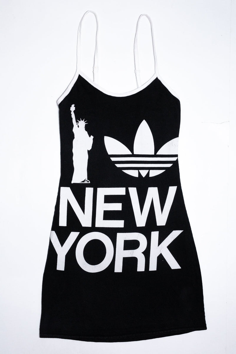 Reworkd Adidas New York T-Shirt Dress <br> (XS)