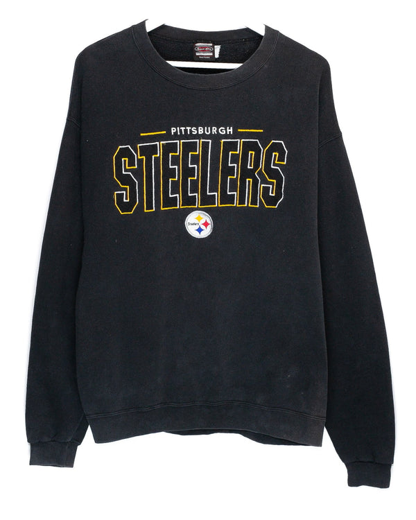 Vintage Pittsburgh Steelers Embroidered NFL Jumper <br> (L)