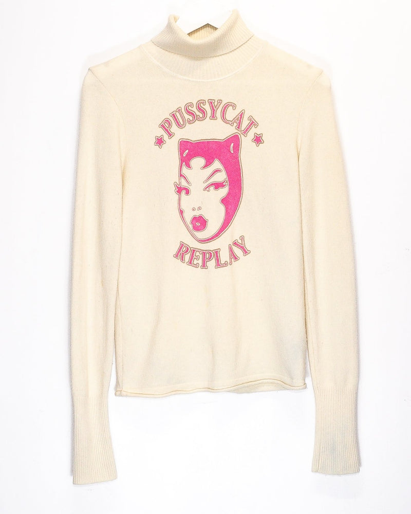 Vintage Replay Turtle Neck Jumper <br> (S)
