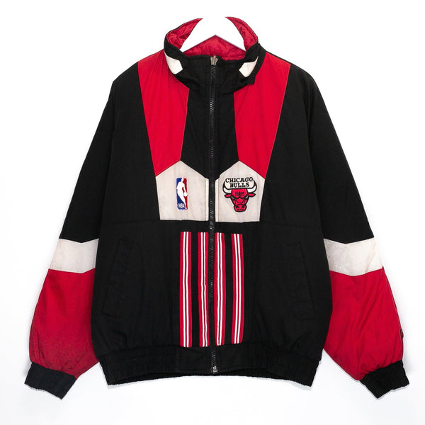 Vintage Chicago Bulls NBA Embroidered Puffer Jacket (Reversible)<br> (XL)