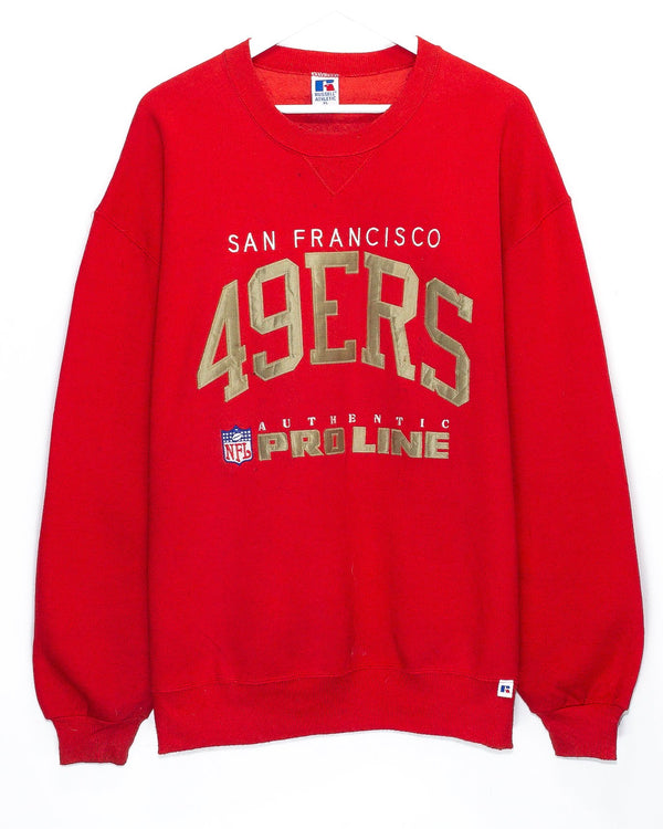 Vintage San Francisco 49ers Embroidered NFL Jumper<br> (XL/XXL)