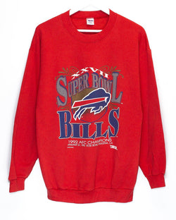 Vintage '92 Buffalo Bills Superbowl NFL Jumper <br> (L)