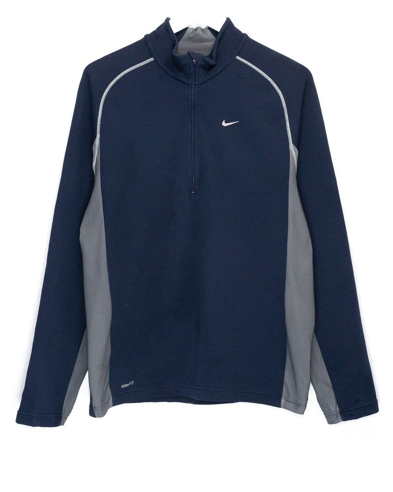 Vintage Nike Embroidered Quarter-Zip Jumper <br> (L)