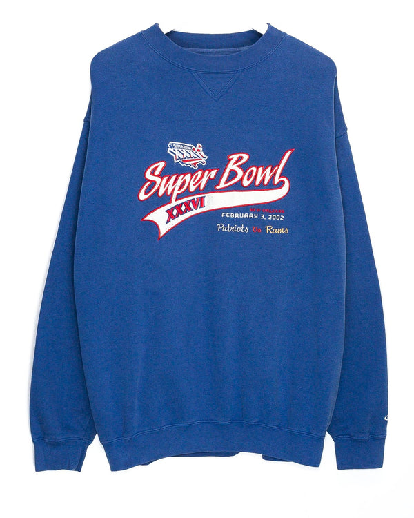 Vintage Super Bowl XXXVI Embroidered NFL Jumper <br> (L/XL)