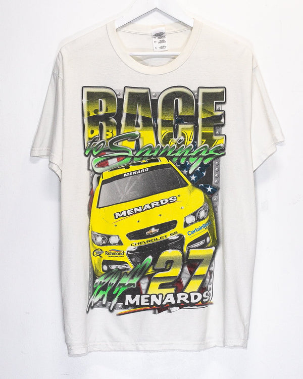 Vintage Race to the Savings Nascar Racing T-Shirt <br> (L)