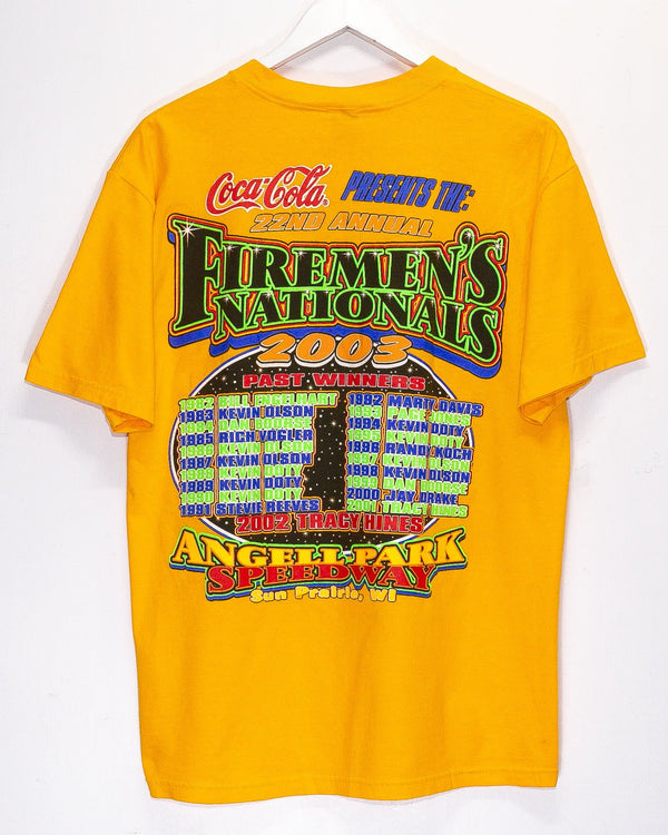 Vintage '03 Firemans Nationals Nascar Racing T-Shirt <br> (L)