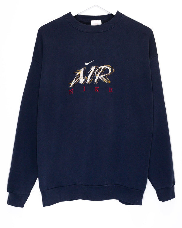 Vintage Bootleg '90s Nike Air Embroidered Jumper <br> (L)