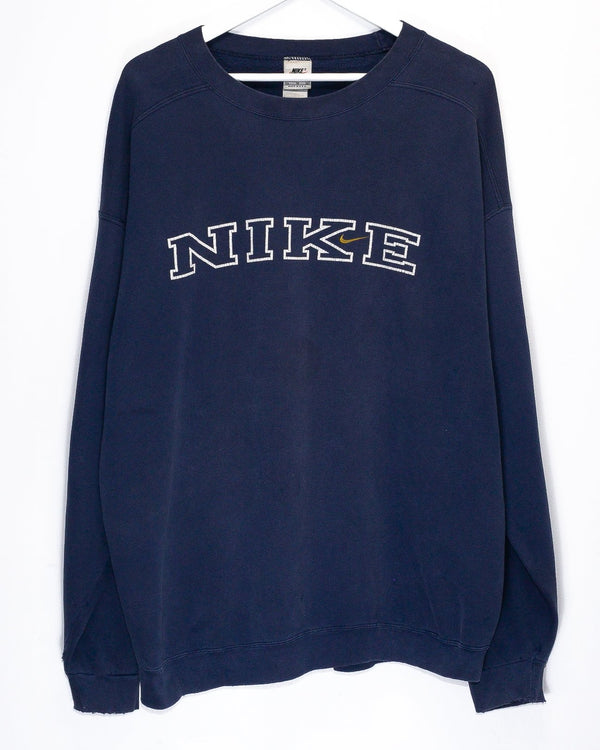 Vintage '90s Nike Embroidered Jumper <br> (XL)