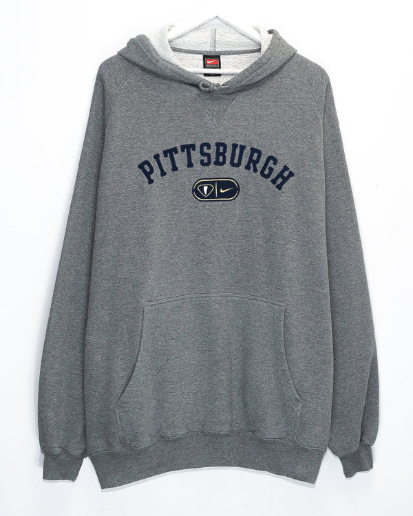 Vintage University of Pittsburgh Embroidered Hoodie <br> (XXL)