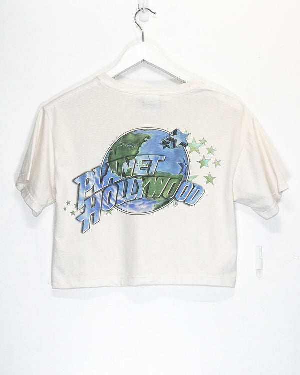 Vintage Women's Planet Hollywood Crop Top T-Shirt <br> (L/XL)