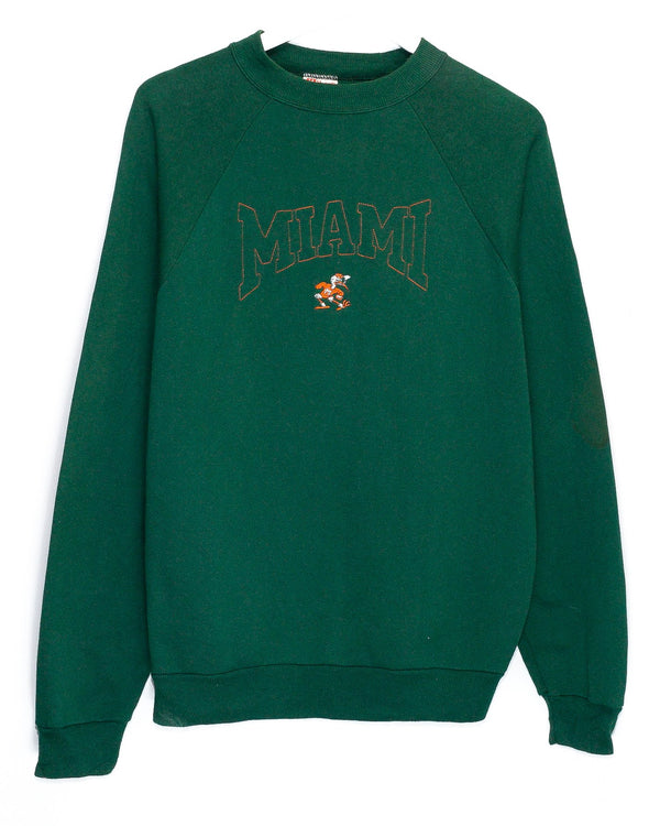 Vintage University of Miami Hurricanes Embroidered 50/50 Jumper <br> (XL)