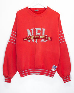 Vintage San Francisco 49ers Embroidered NFL Jumper<br> (M)