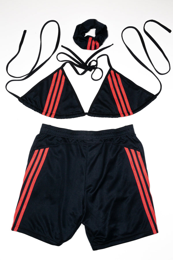 Triangle Top/ Shorts Rework'd Adidas Tracksuit Set <br> (XL)