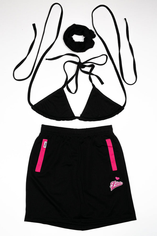 Triangle Top/ Skirt Rework'd Fila Tracksuit Set <br> (XS)