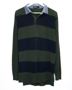 Vintage Polo Ralph Lauren Longsleeve Rugby <br> (L/XL)