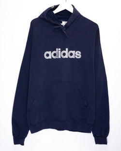 Vintage Adidas Embroidered Hoodie <br> (XL)