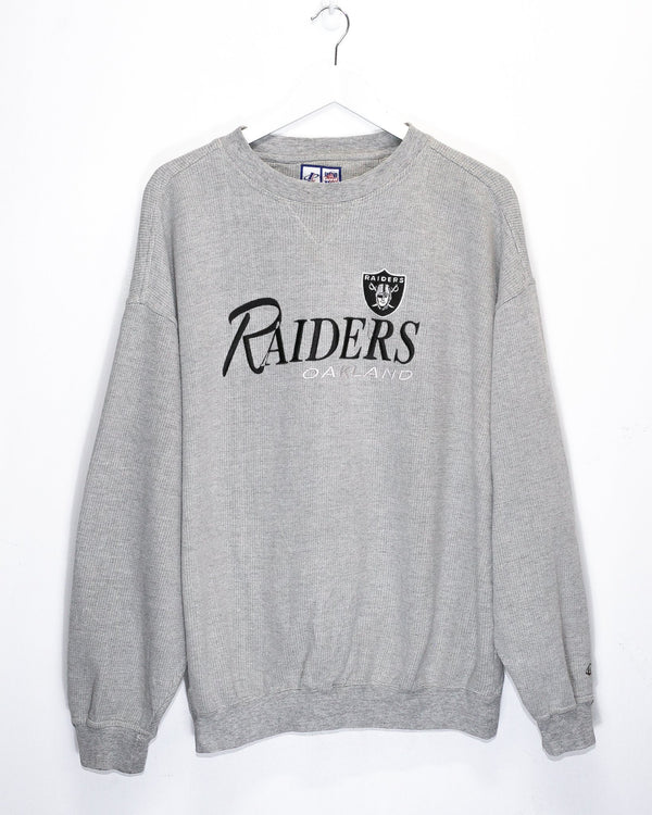 Vintage Oakland Raiders Embroidered Jumper <br> (XL)