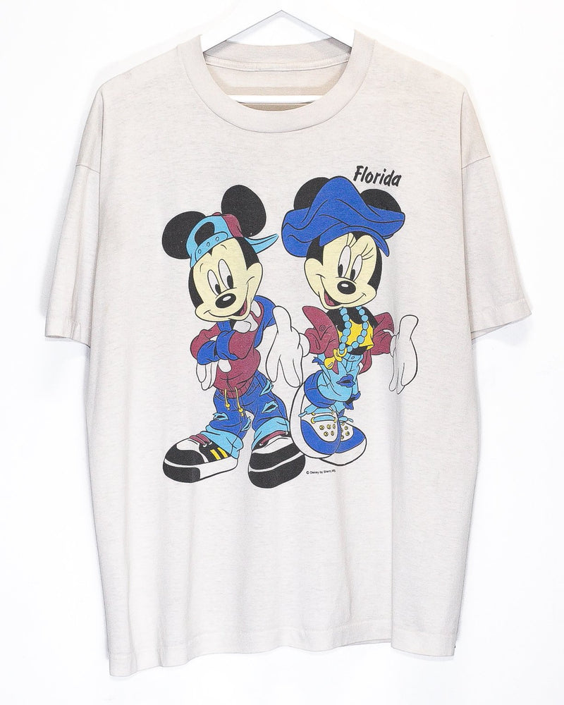 Vintage Mickey & Minnie Mouse 50/50 T-Shirt <br> (L)