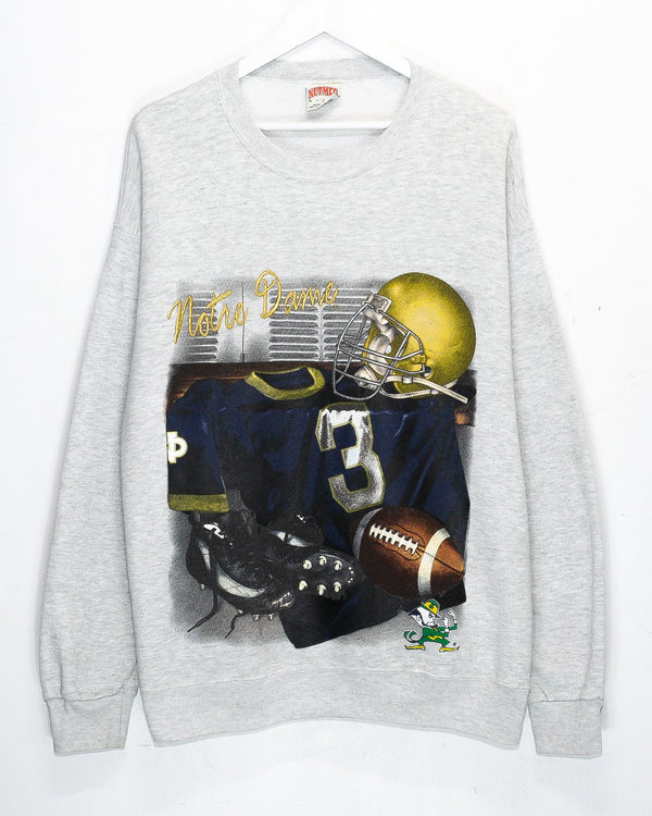 Vintage University of Notre Dame Embroidered Jumper <br> (L)