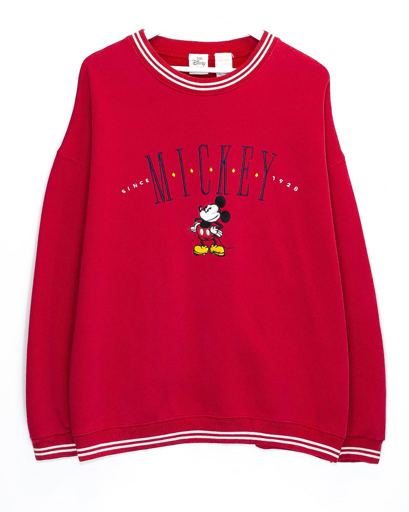 Vintage Mickey Mouse Embroidered Jumper <br> (XL)
