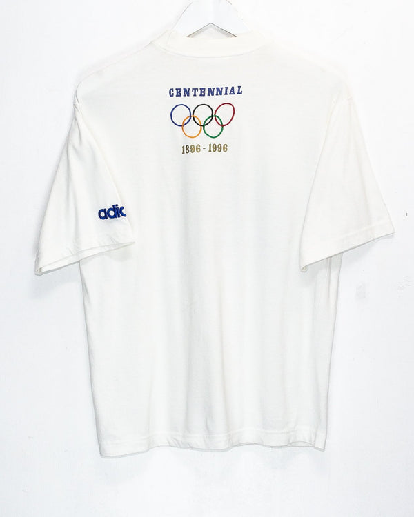 Vintage Adidas Olympics Embroidered T-Shirt <br> (S)