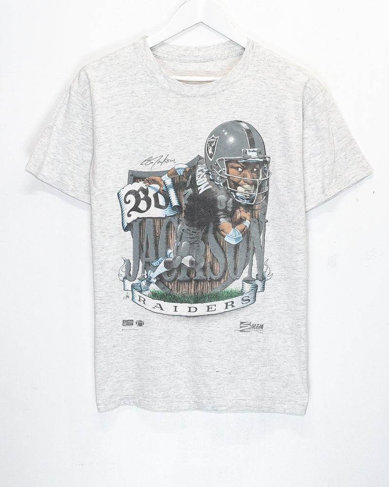 Vintage '90 Los Angeles Raiders Bo Jackson NFL T-Shirt <br> (S)