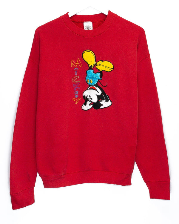 Vintage Mickey Mouse Embroidered Jumper <br> (L)