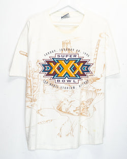 Vintage '95 Superbowl XXX NFL T-Shirt <br> (XL)