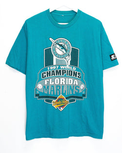 Vintage '97 Florida Marlins MLB T-Shirt <br> (L)