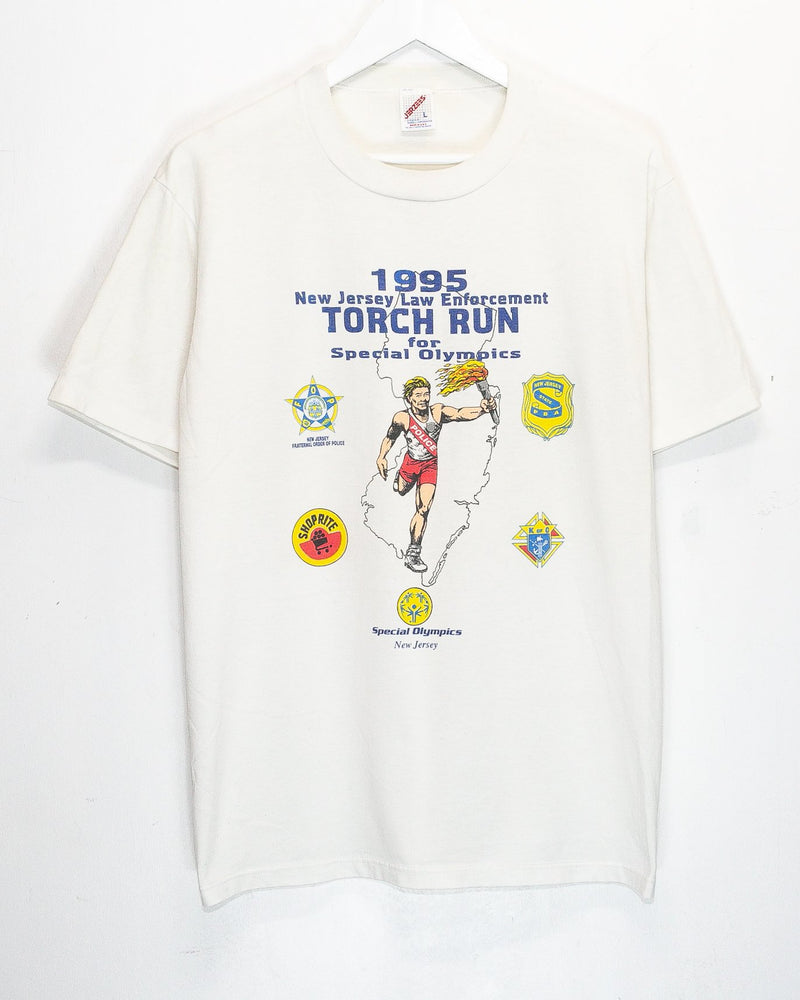 Vintage '95 New Jersey Torch Run for Special Olympics T-Shirt <br> (L)