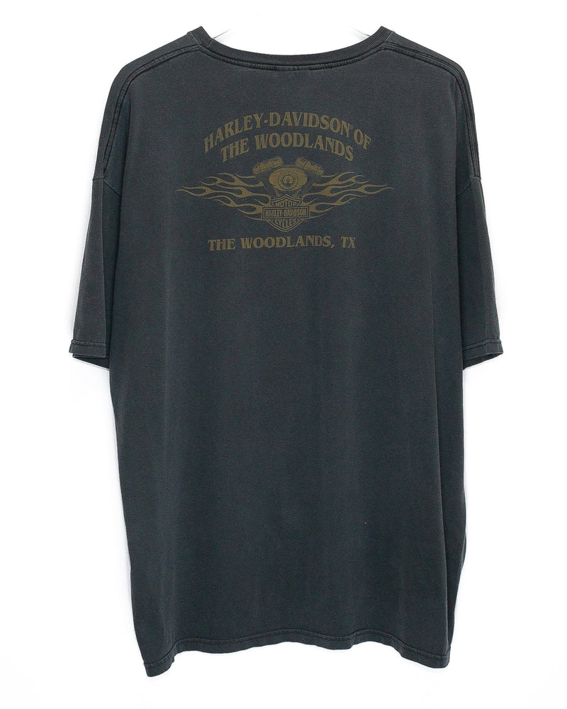 Vintage Harley Davidson 'The Woodlands, TX' T-Shirt <br> (XXL)