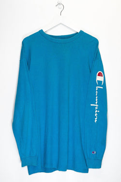 Vintage Champion Longsleeve T-Shirt <br> (S)