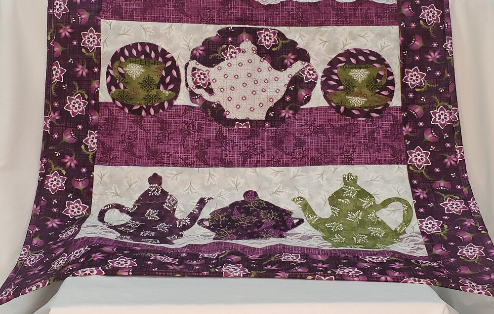 Purple Lace Wall Hanging