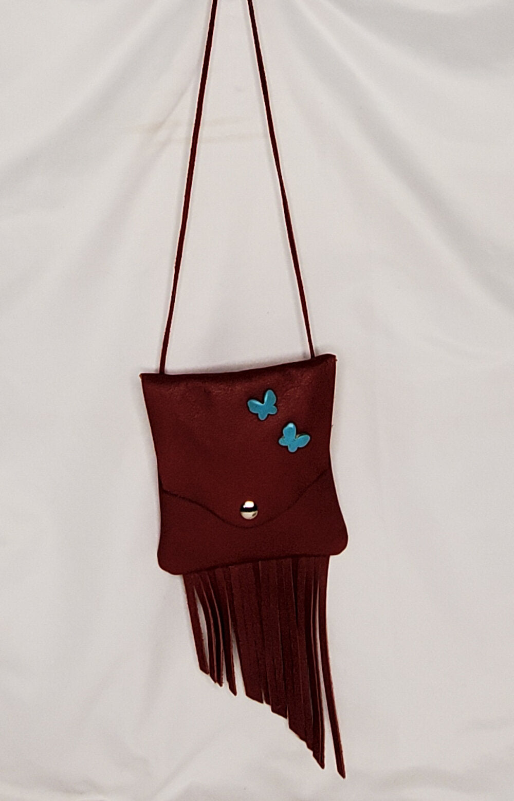 Lil' Girl Purse - Red/Turquoise Butterflies