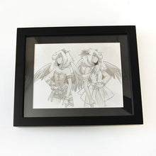 Load image into Gallery viewer, Faery Child Ink Drawing- Ia
