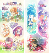 Load image into Gallery viewer, Sailor Moon Pets and Cosmic Love Sticker Sheets