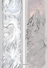Load image into Gallery viewer, Spirit Wolf and Midnight Wolf 8x24 Foil Prints