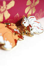 Load image into Gallery viewer, Jingle Fox Enamel Pins