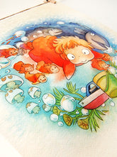 Load image into Gallery viewer, Ponyo 11x11 Print