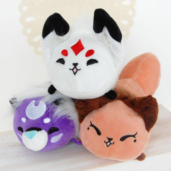 Floral Frolic Queenie, Dawnsing, and Rawra Bean Plush