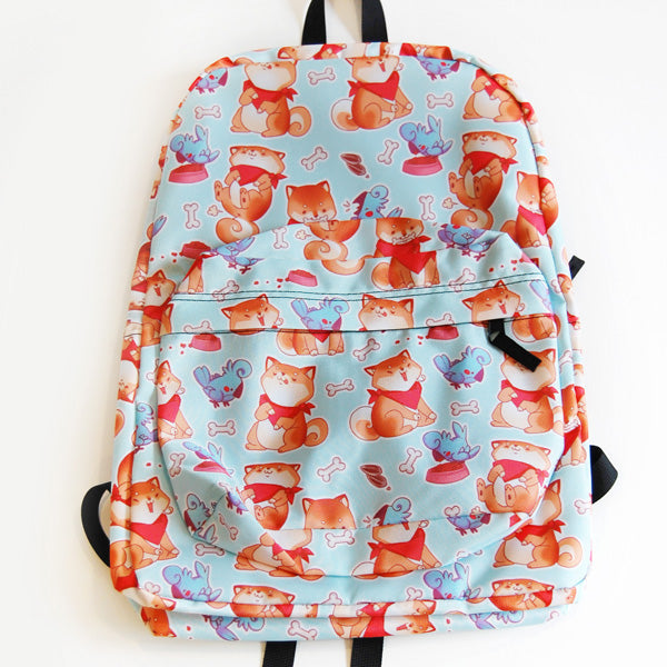 Rude Dog Pattern Backpack
