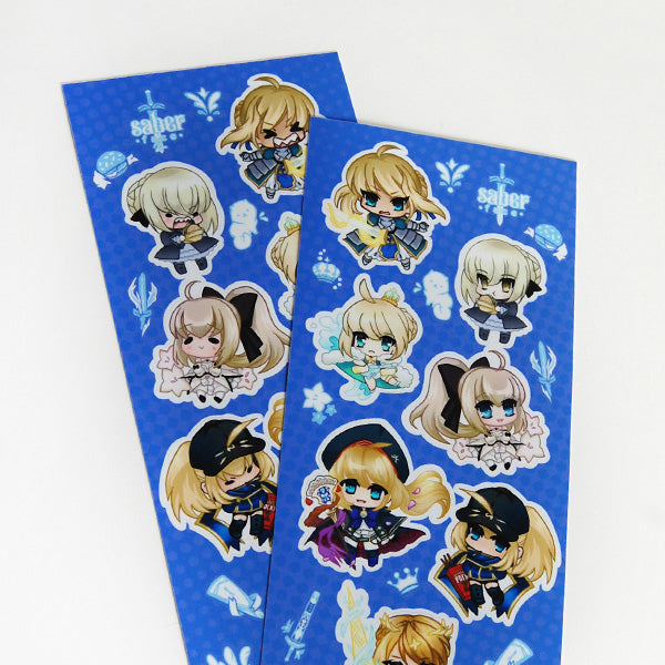 Saber Face Sticker Sheet Set
