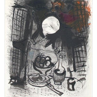 "Marc Chagall Original Lithogaph, ""Brown Still Life"""