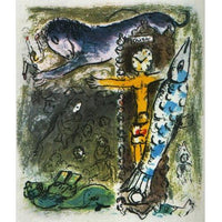 "Marc Chagall Original Lithogaph, ""Christ in the Clock"""
