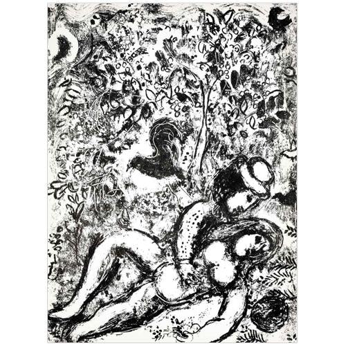 "Marc Chagall Original Lithogaph, ""The Couple in a Tree"""