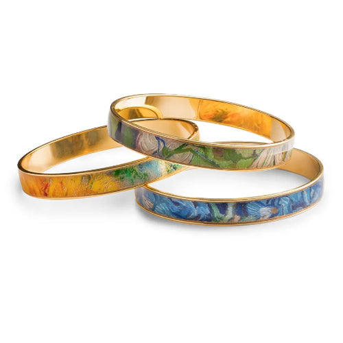 Floral 22K Gold Plated Still-Life Bangles
