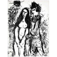 "Marc Chagall Original Lithogaph, ""The Clown in Love"""