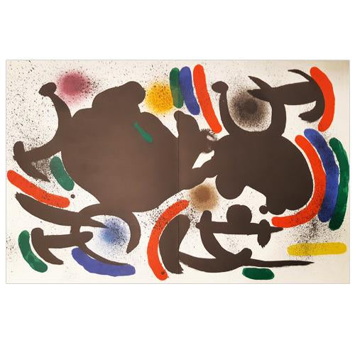 "Joan Miro Original Lithogaph, ""Untitled"" - 1972"