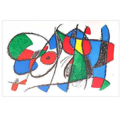 "Joan Miro Original Lithogaph, ""Untitled"" - 1975"