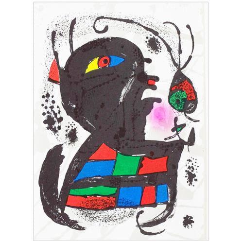 "Joan Miro Original Lithogaph, ""Untitled"" - 1977"
